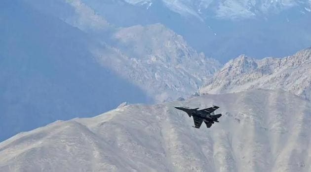 A fully loaded MiG 29 fighter during a combat air patrol of Ladakh skies.(AFP file photo for representation)