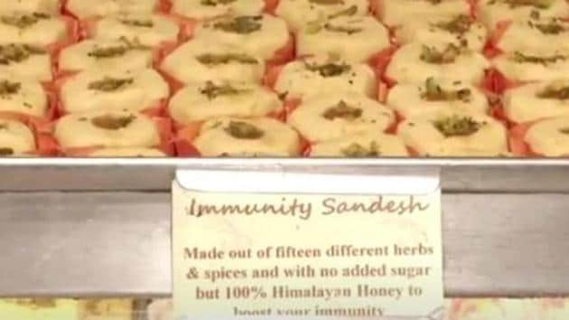 The sandesh will boost the immune system as a whole but it is not a Covid-19 antidote, an official said.(ANI Photo)