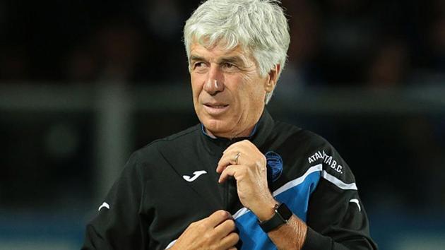 Atalanta BC coach Gian Piero Gasperini looks on.(Getty Images)