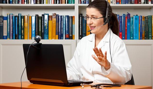 Online appointments with doctors has seen a surge in the recent past, owing to the pandemic-induced lockdown(Photo: Shutterstock (For representational purpose only))
