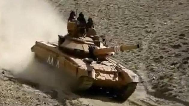 T-90 missile firing tank deployed in Galwan Valley sector.