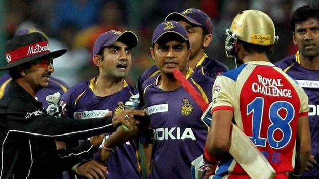 Gautam Gambhir in a heated exchange with Virat Kohli.(File)