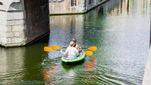 Kayaking on a little-known urban river isn't what you might expect. (Representational Image)(Unsplash)
