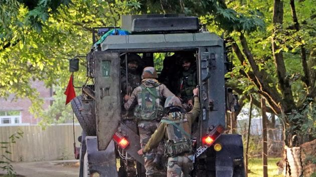 The area has been sealed and a search operation has been launched. Officials of the Indian Army and police have also reached the spot.(ANI Photo. Representative image)