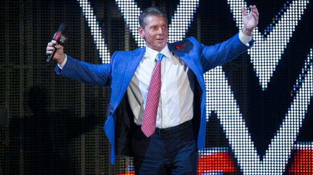WWE Chairman Vince McMahon celebrates. File photo.(WWE)