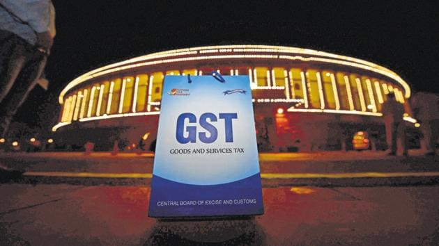 The Goods and Services Tax (GST) was passed in a joint session of parliament on 1 July, 2017(PTI)