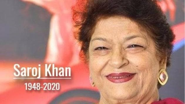 Saroj Khan died at the age of 71 in Mumbai on Thursday.