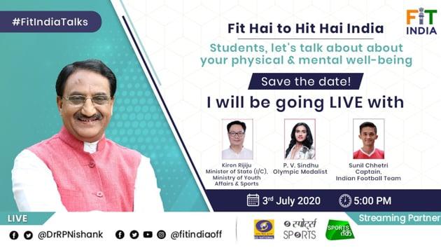 MHRD Fit Hai to Hit Hai India webinar(Twitter)