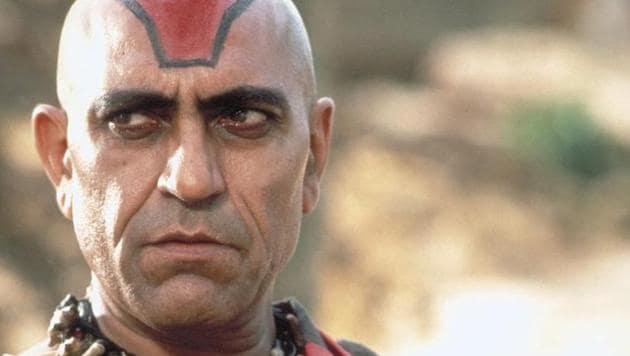 Amrish Puri as Mola Ram in Indiana Jones and the Temple of Doom.(Lucasfilm Ltd)
