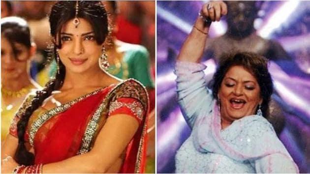 Priyanka Chopra's song Gun Gun Guna was choreographed by Saroj Khan.