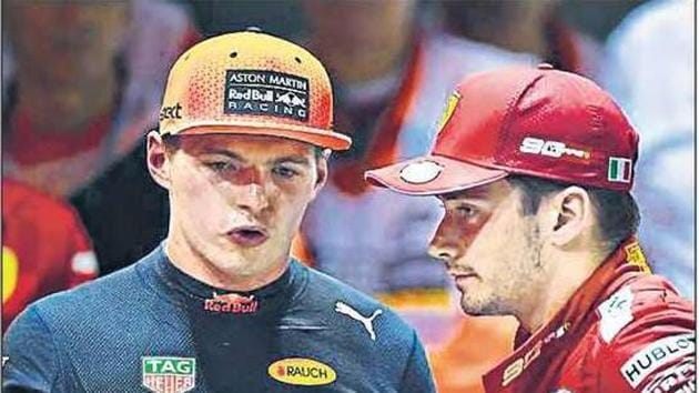 Max Verstappen (L) of Red Bull and Charles Leclerc of Ferrari were third and fourth last year behind Hamilton and Vettel.(Getty Images)