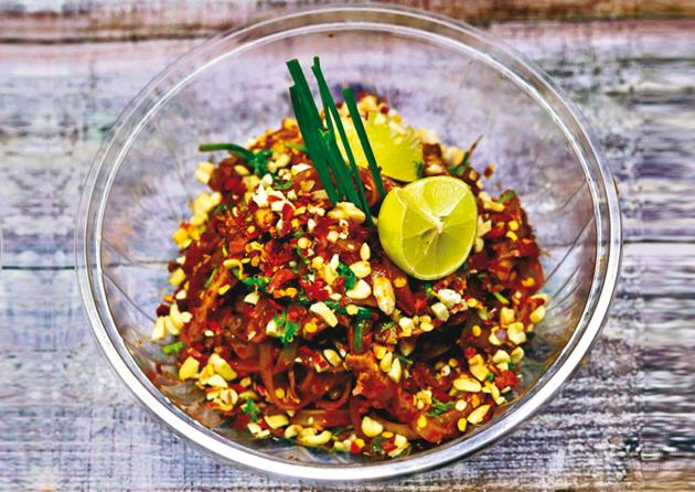 Chef Vikramjeet Roy does a mean Pad Thai rice noodles dish with a twist