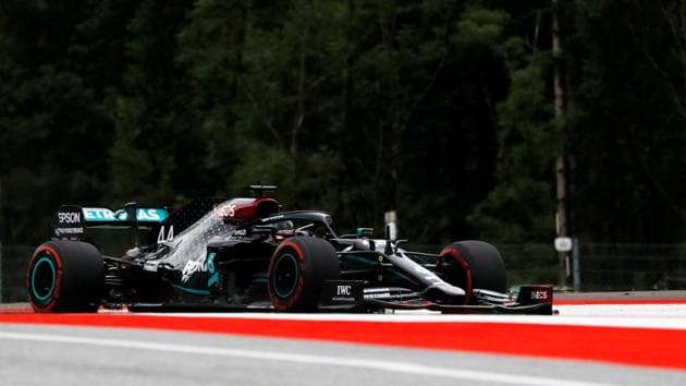 Formula One F1 - Austrian Grand Prix - Red Bull Ring, Spielberg, Styria, Austria - July 3, 2020 Mercedes' Lewis Hamilton during practice, as F1 resumes following the outbreak of the coronavirus disease (COVID-19)(REUTERS)
