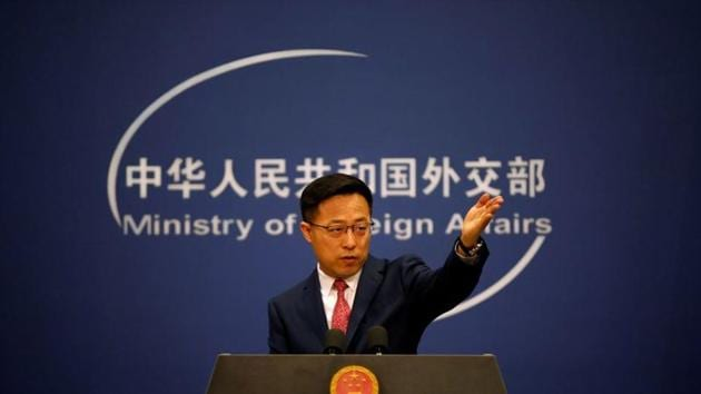 Chinese Foreign Ministry spokesman Zhao Lijian sidestepped a question about India's security-related concerns that prompted it to ban 59, mostly Chinese mobile applications, on Monday.(Reuters file photo)