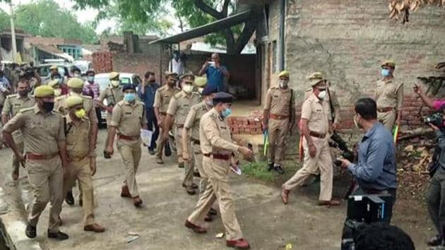 A source in the police department, however, said the initial investigation hinted that Vikas Dubey was well aware about the police raid at his house and prepared to deal with it.(ANI)
