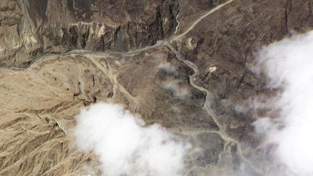 Satellite photo released by Planet Labs, shows the reported site of a fatal clash between Indian and Chinese troops in the Galwan River Valley in the Ladakh region near the Line of Actual Control.(AP Photo)