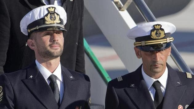 Permanent Court of Arbitration ruled that Italy, and not India, has jurisdiction to prosecute two Italian marines accused of killing two Indian fishermen in 2012.(AP File Photo)