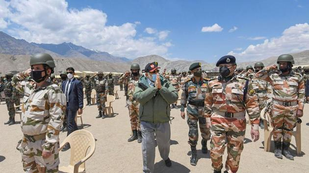Prime Minister Narendra Modi has no words of criticism for the Indian Army, Air Force or ITBP, but only pumped up the troopers with wholesome praise and the promise of full backing, said another senior official.(PTI Photo)