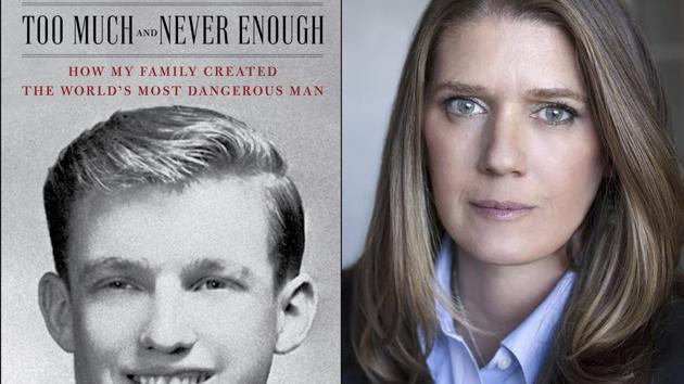 """This combination photo shows the cover art for """"Too Much and Never Enough: How My Family Created the World's Most Dangerous Man"""", left, and a portrait of author Mary L. Trump, Ph.D. The book, written by the niece of President Donald J. Trump, was originally set for release on July 28, but will now arrive on July 14.(AP)"""