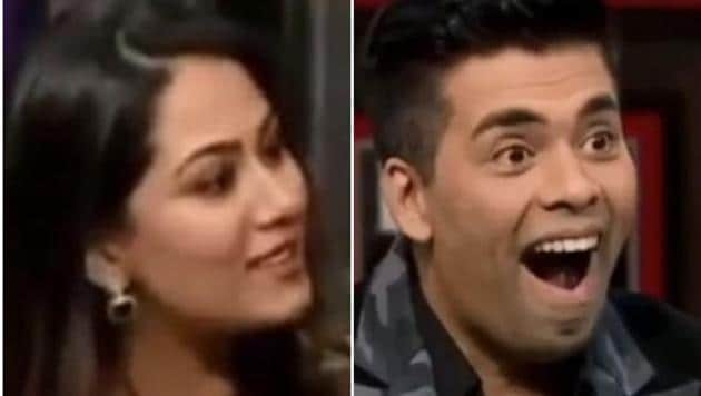 Mira Rajput stuns Karan Johar on his own show.