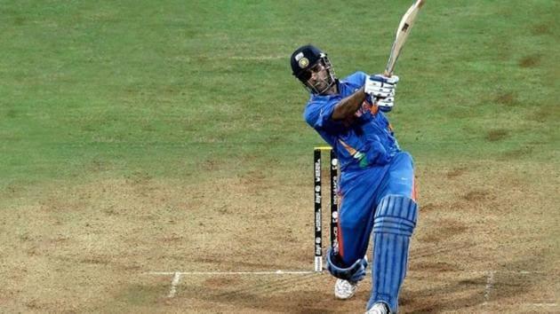 File image of MS Dhoni hitting a six.(iFile)