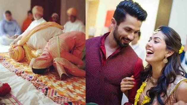 Mira Rajput shared photos of her wedding with Shahid Kapoor on their fifth wedding anniversary.
