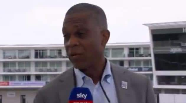 Former West Indies fast bowler and commentator Michael Holding.(Twitter/Sky Sports Cricket)