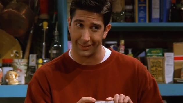 David Schwimmer as Ross Geller in Friends.