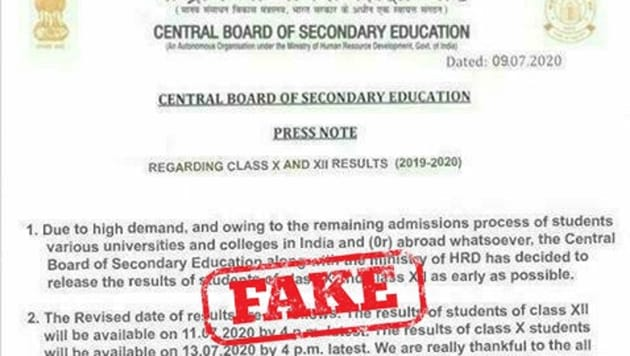 CBSE Fake notice
