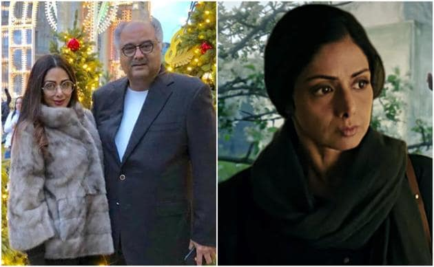 Boney Kapoor remembered wife Sridevi as her film completes three years.