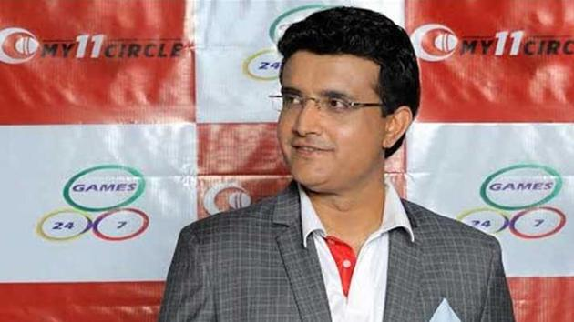 Ganguly-advertisements occupy ad space between overs in the England-West Indies Test in Southampton, the first international cricket game for almost three months(File)