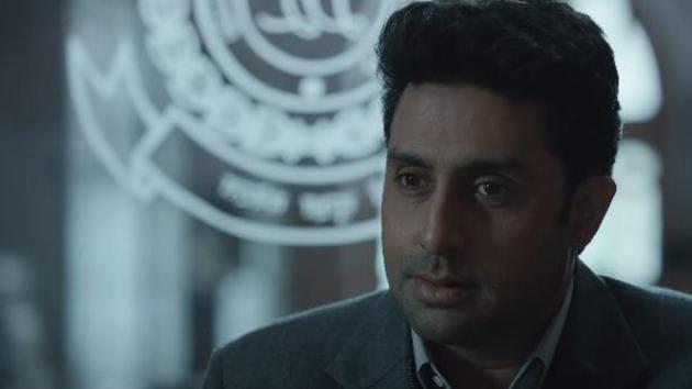 Abhishek Bachchan in a still from Breathe Into the Shadows.