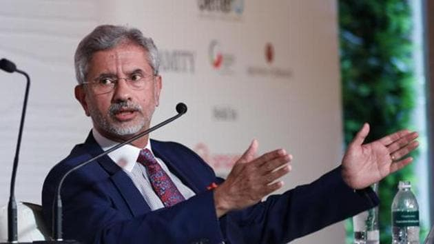 Referring to the UK, Jaishankar said India and Britain need to work together at a time when multilateralism is under stress(HT Photo)