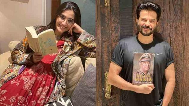 Sonam Kapoor and Anil Kapoor show off the books they have been reading these days.