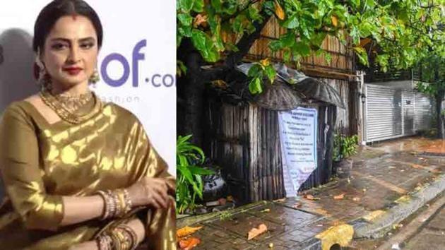 Rekha's staff member tested positive for Covid-19 on Tuesday.(Pratik Chorge)