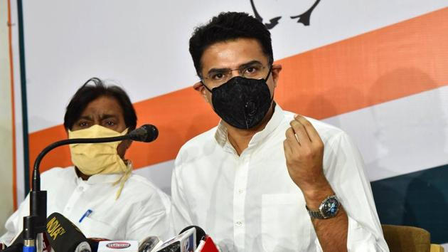 Pilot, who is also the state Congress president, will also skip the Rajasthan Legislature Party meeting on Monday morning.(PTI)