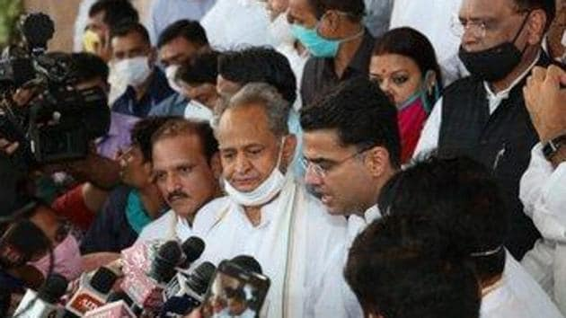 Hindustan Times has learnt that Venugopal is trying to convince chief minister Ashok Gehlot to try to bury differences with his former deputy Sachin Pilot. (File Photo @SachinPilot)