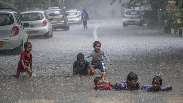 Mumbai has also recorded its second-highest 24-hour rainfall since 2015.(Pratik Chorge/HT Photo)