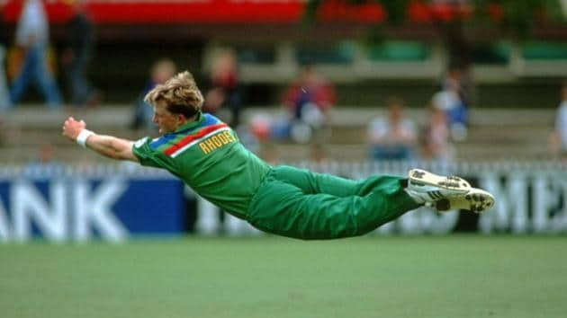 produced one of the most iconic sights in World Cup history when he dived full stretched and whipped off the stumps to run Inzamam Ul Haq out during the 1992 edition.(Getty Images)
