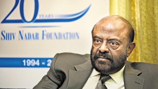 """""""Shiv Nadar, who expressed his desire to step down from the position of Chairman, will continue to be the Managing Director of the company with designation as the Chief Strategy Officer,"""" the company said in a statement.(Mint file photo)"""