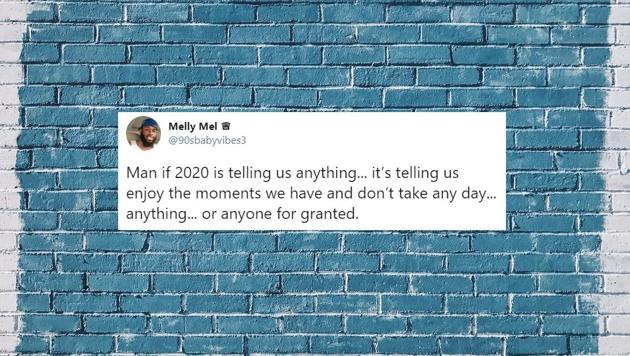 People have shared their own thoughts about 2020.(Twitter/Melly Mel)