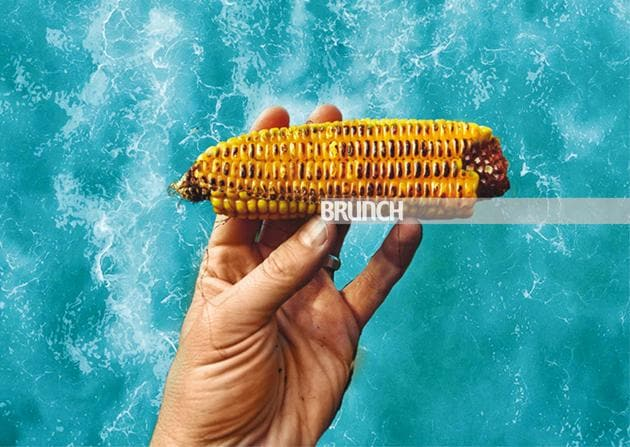 In times of physical distancing, sharing a bhutta by the sea is a dilemma(Photo Imaging: Parth Garg)