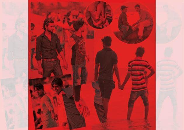 Holding Hands took shape against the backdrop of India decriminalising gay sex.(Vincent Dolman)