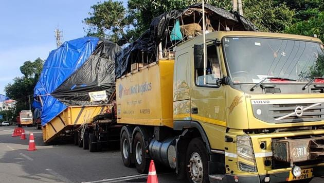 Usually, a truck, covering a similar distance spanning five states, takes a maximum of seven days to reach its destination.(HT photo)