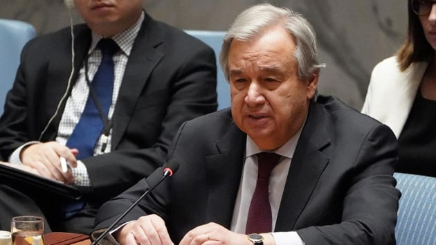 """Antonio Guterres said the pandemic has revealed, like an x-ray, """"fractures in the fragile skeleton of the societies we have built.""""(Reuters)"""
