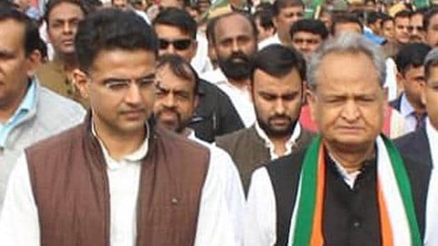 A raging political battle is underway in Rajasthan between chief minister Ashok Gehlot and his former deputy Sachin Pilot.(HT Photo)