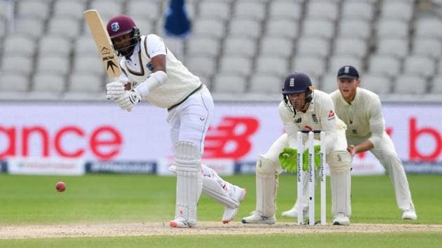 Kraigg Brathwaite scored his 19th Test fifty.(Image Courtesy: ICC Twitter)