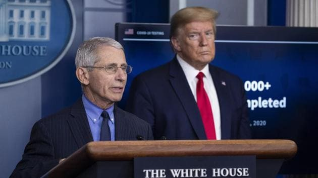Dr. Anthony Fauci is the most high-profile member of the White House coronavirus task force and has often clashed with President Donald Trump on how to protect Americans from the virus(AP)