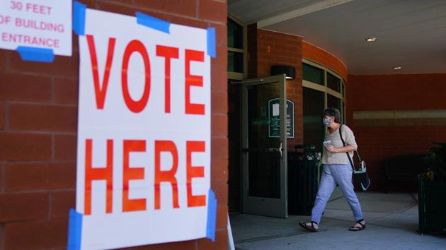There are 1.3 million Indian-American adult citizens, by definition, who are eligible to vote in these (eight battleground) states, Shekar Narasimhan, chairman of AAPI Victory Fund said.(Bloomberg Photo)
