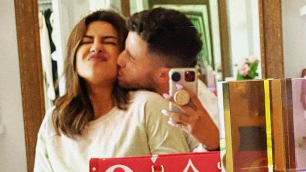 Priyanka Chopra shared a romantic picture with Nick Jonas to wish him on completion of two years after he proposed marriage to her.